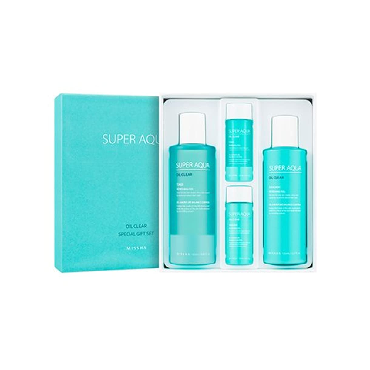 厳しい長方形シュリンクMISSHA Super Aqua Oil Clear Special Gift Set/ミシャ スーパーアクアオイルクリアスペシャルギフトセット [並行輸入品]