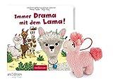 aer Immer Drama mit dem Lama (Pappbilderbuch) + NICI plüsch Lama-Schlüsselanhänger