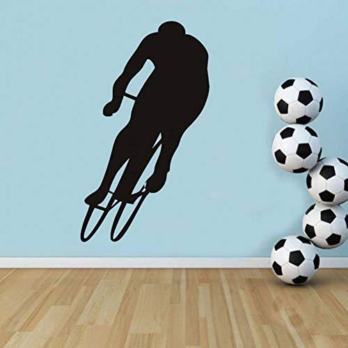 TIVOPA Sticker Home Décaltion Accessoires Vélo Player Silhouette Imprimé Design Vélo Sticker Mural Auto-Adhésif Enfants Chambre