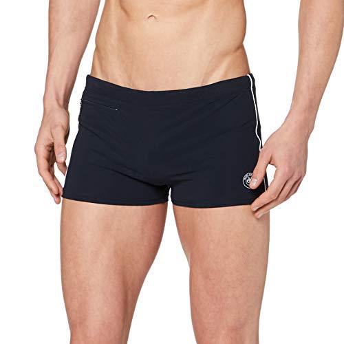 Marc O'Polo Body & Beach Herren BADE-Shorts Badeshorts, Schwarz (Blauschwarz 001), Large