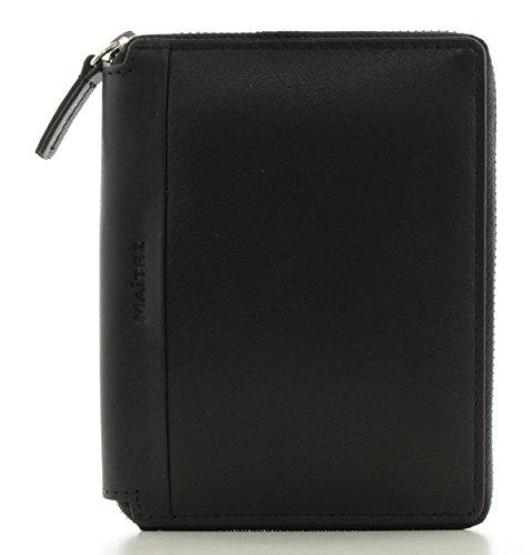 Maitre Herren Brieftasche mit rundum Reißverschluss Leder Black