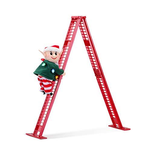 Mr. Christmas Tabletop Climber - Elf Christmas Décor, 17-inch, Red