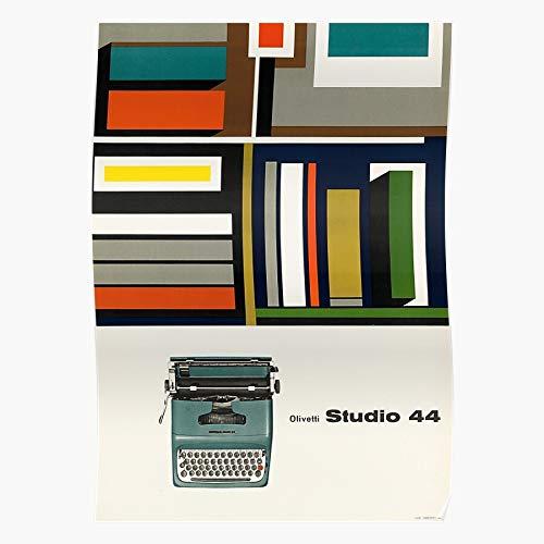 fashionAAA Italy Retro Cool Italian Writer 44 Olivetti Studio Typewriter Impressionanti Poster per la Decorazione della Stanza Stampati con