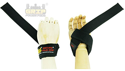Classic Heavy Duty Neoprene Padded Weight Lifting Straps, COTTON STRAPS EXTRA CUSHION At the Carpal Tunnel For Wrist Comfort & Optimal Power Lifting - Best Cotton Weightlifting Strap That Enhance Your Grip.