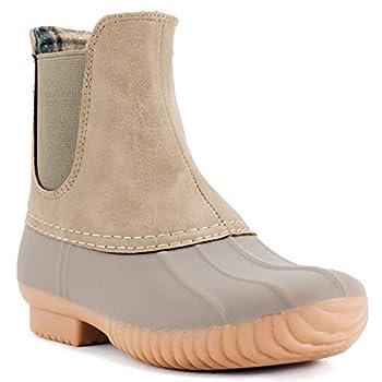 AVANTI Women s Rocky Duck Style Heeled Rain Boots - Stone - Size 8