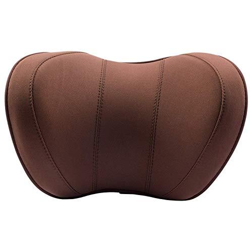 JONJUMP Almohada de cuello para coche de viaje almohada de apoyo de cabeza cojín almohada de sueño cojín de espuma de memoria correa ajustable en forma de U