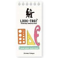 SPICE OF LIFE(スパイス) 付箋 ふせん 紙 デザイン インデックス LOOK-TAG ルーラー 120枚(4種30枚) PFBS1070