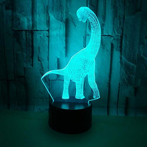 Creativa 3D LED USB iluminación cable animales dinosaurio Shaped inicio dormitorio decorativa Multicolor luz nocturna lámpara de mesa infantil regalo