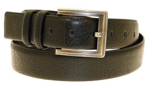"""Neptune Giftware Mens en cuir véritable ceinture noire en boîte-cadeau - Convient à la taille environ 28-31"""""""