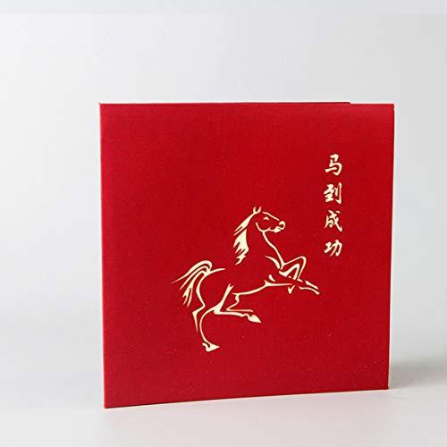 Banbie Kreative 3D Pferd hohl Grußkarte Geburtstagskarte handgemachte Segen Karte Papier Geschenk Karte Dekor Zubehör