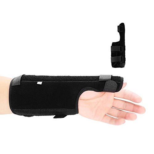 ZJchao Thumb Brace, Adjustable Breathable Wrist Brace Hand Support Fracture Ligament Injury Arm Protection Strap Alleviate Wrist and Thumb Pain (Right L)