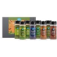 Marca Amazon - Happy Belly - Hierbas aromáticas y especias (lote de 8)