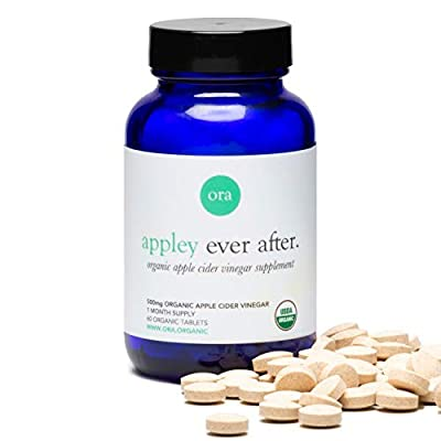 Ora Organic Apple Cider Vinegar Pills - Supports Appetite Control and Healthy Weight Management - ACV Pills for Detox Cleanse - Vegan, Organic Apple Flavor - 60 Tablets