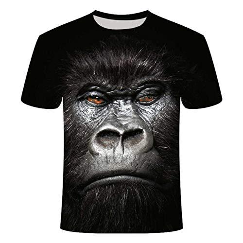 Queen Elena Fashion Gas Monkeys Tshirt 3D Printed Funny Animal Monkey Tshirt Short Sleeve Monkey Casual Tops Tees Male Summer Tshirts Man Asian Size