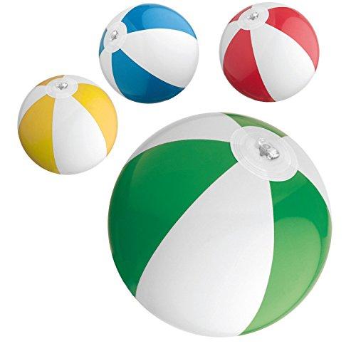 4x Mini Strandball / Wasserball / Farbe: je 1x blau, rot, gelb und grün
