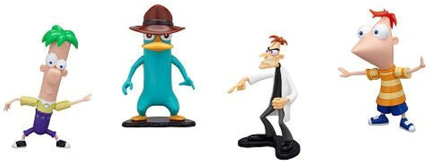 Disney Phineas and Ferb PVC Collector Pack Phineas, Ferb, Agent P & Dr. Doofenshmirtz by Disney