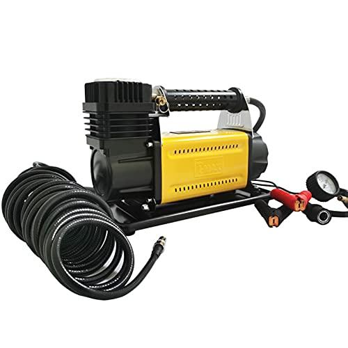 SXTYRL Aire Compresor, Portátil con Compresor De Calibre, para El Baloncesto De La Motocicleta del Coche, Amarillo