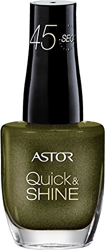 Astor Quick & Shine Nagellack, 528 Laid Back Kaki, schnell trocknend, 1er Pack (1 x 8 ml)