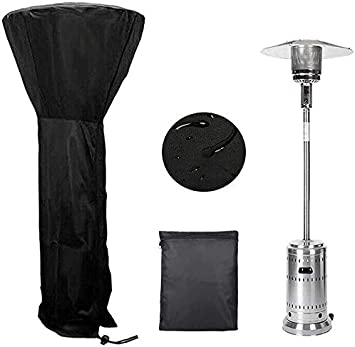 DEARLIVES Patio Heater Cover,Heater Cover Waterproof with Zipper Outdoor Stand Up Storage Cover for Round Dome Heaters