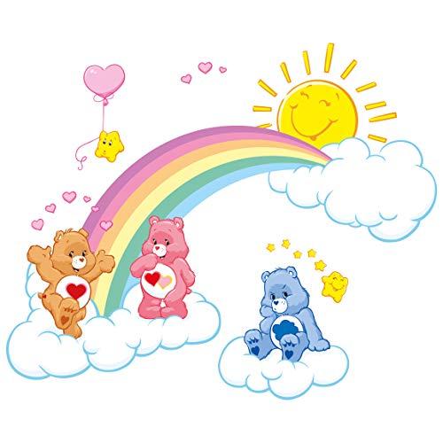 Bilderwelten Wandtattoo Glücksbärchis Regenbogenspaß, HxB: 100 x 125cm