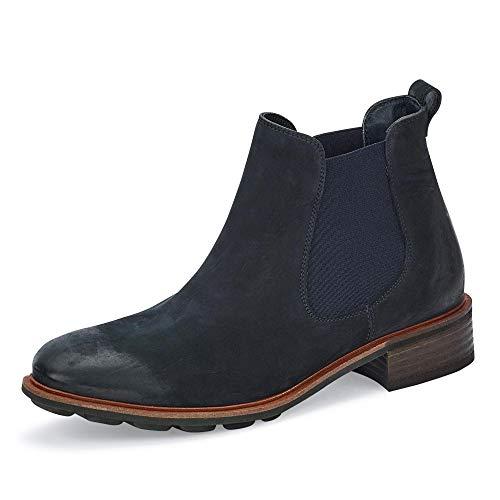 Paul Green Damen Chelsea Boots Stiefelette Velour blau Gr. 39