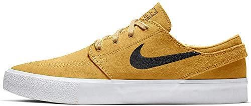 Nike Men's SB Zoom Stefan Janoski RM Premium Skateboarding Sneakers (9.5 M US, Celestial Gold/Anthracite)
