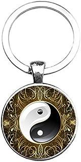 Sleutelhanger Glas - Yin Yang