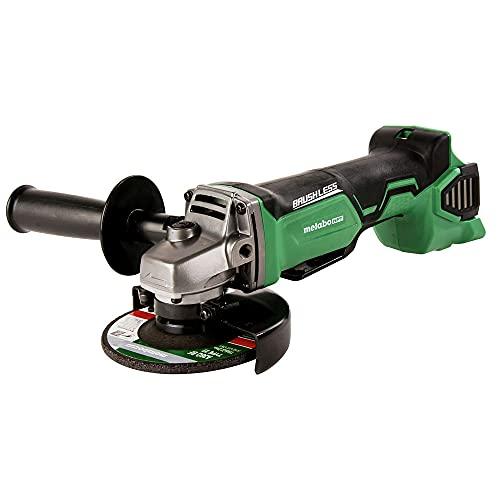 Metabo HPT Angle Grinder   4-1/2-Inch   18V Cordless   Tool Only - No Battery   Brushless Motor   G18DBALQ4