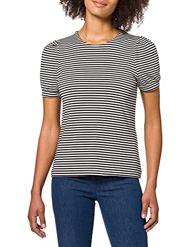 Vero Moda VMKATE SS Top JRS Camiseta, Negro/Rayas: Rayas Blancas, XS para Mujer
