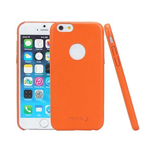 Capa Couro para iPhone 6 e iPhone 6S, Yogo, YGI6ELEGORA, Laranja