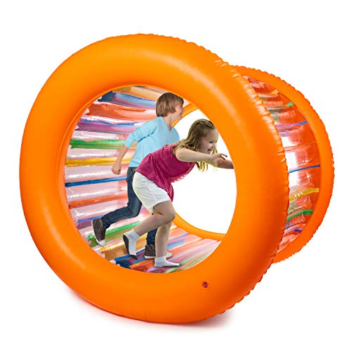 Hoovy Giant Fun Inflatable Roller Outdoor Activities for Kids and Adults Families Playtime 51'...