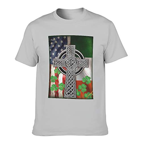 Herren T-ShirtsRundhalsausschnittTee Sommer Neuheit Logo Shirts FitnessT-Stücke Silver Gray 4XL