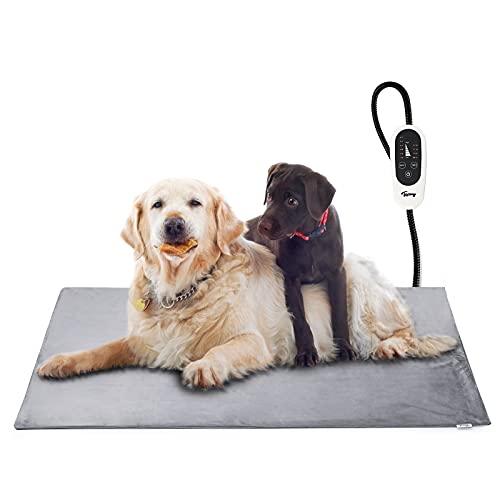 Toozey Manta Eléctrica para Perros y Gatos Interior, Ajustable Temporizador y Temperatrue Almohadilla Calefactora para...