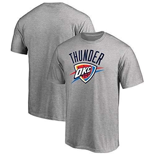 Camiseta de Verano Camiseta NBA Jerseys Oklahoma City Thunder Kobe Curry Jordan Durant Baloncesto Deportes Casual Rocket Manga Corta Ropa Deportiva (Color : Gray, Size : XXXL)