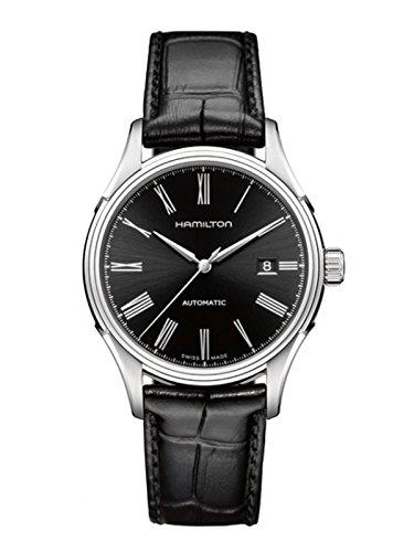 Hamilton Herren-Armbanduhr Valiant Auto Lederarmband H39515734, Schwarz,