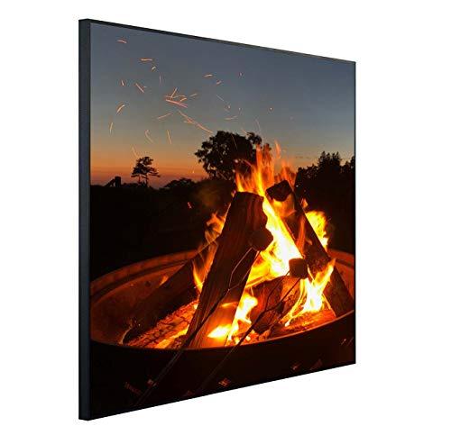 Ecowelle Infrarotheizung mit Bild | 350 Watt | 60x60 cm | Infrarot Heizung| | Made in Germany| (1) i 186 Lagerfeuer
