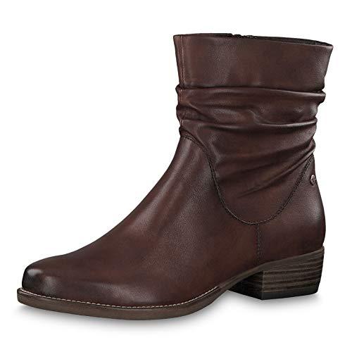Tamaris Damen Stiefeletten 25942-33, Frauen Chelsea Boots, Bootie Schlupfstiefel flach Damen Frauen weibliche Lady Ladies,Chestnut,38 EU / 5 UK