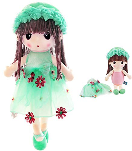 HWD Kawaii Flower Fairy Stuffed Soft Plush Toy Doll Girls Gift , 18 Inch ( Green...