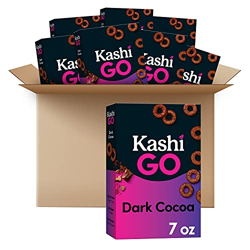 Kashi GO Breakfast Cereal Keto Friendly Good Source of Protein 7oz Box, Dark Cocoa, 8 Count