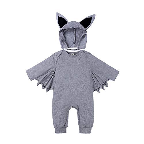 junkai Halloween Baby Boys Girls Outfits Ropa Bebés Recién Nacidos Toddler Halloween Bat Cosplay Disfraz Manga Larga