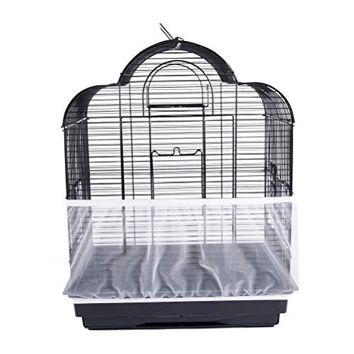 Mankoo Universial Birdcage Cover, Kordelzug Seed Catcher Guard Mesh Cover für Vogelfutter...