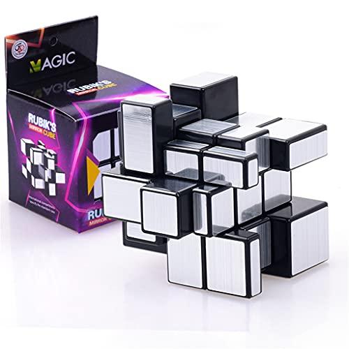 SXFSY Cube Puzzle Fiesta Favors para Niños, Cube Educational Cerebro Teaser, Cubo De Velocidad Dorado Mirror Bloques Cube, Suministros para Escuelas De Regalo Día Infantil para Niño Niño
