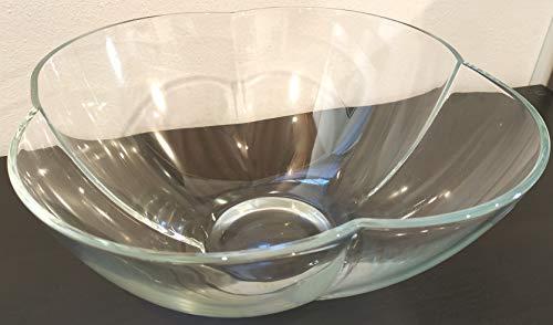 Glazen fruitschaal van transparant glas (ca. Ø 31 cm, voet 10 cm, hoogte 13,5 cm)