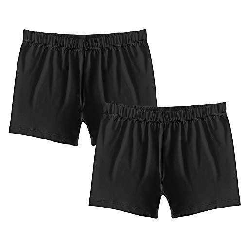 Popular Girl's Premium Playground Shorts - 2 Pack - Black - M (7/8)