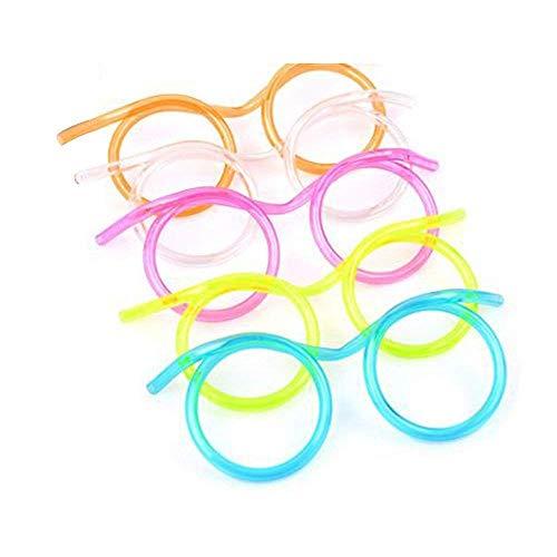 Perfectii 5 StückTrinkhalm Brillen, Trinkbrille Strohhalm Strohhalm im Brillen-Design für Party, Oktoberfest (5 Stück)