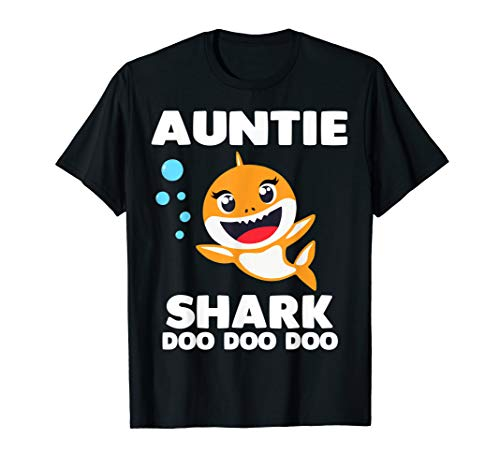 Auntie Shark Shirt for Matching Family Pajamas T-Sh