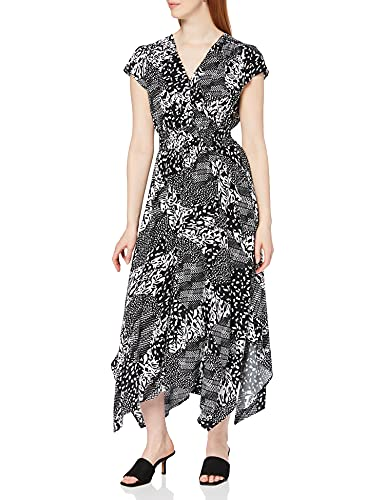 Joe Browns Damska sukienka Dippy Hem Lssiges, A-czarny/biały, 36 PL