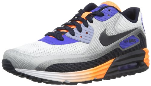 Nike Air Max 90 Lunar C3.0 631744-104 Herren niedrig Mehrfarbig (Weiß-Schwarz-Lila-Orange) 45