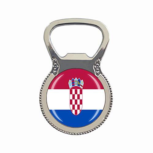 Flaschenöffner mit Kroatien-Flagge, Bierflaschenöffner, Kühlschrankmagnet, Metall, Glas, Kristall, Reise-Souvenir, Geschenk, Heimdekoration