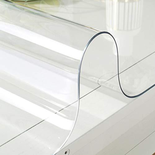 ZWYSL Mantel Transparente Mantel de PVC Plástico Rectangular Transparente 1,5mm Vidrio Suave a Prueba Agua y Aceite Oficina Estera la Silla Estera (Color : 1.5 MM, Size : 80X80cm)